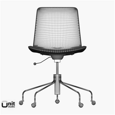 West Elm Office Chair by Slope Office Chair By West Elm 3d Model Max Obj 3ds Fbx