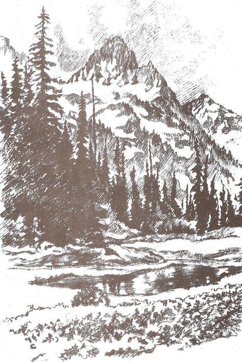 imagenes de paisajes en dibujo dibujo artistico paisajes y jardines plantillas para