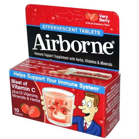 Vitamin Airborne airborne blast of vitamin c berry 10 effervescent tablets iherb
