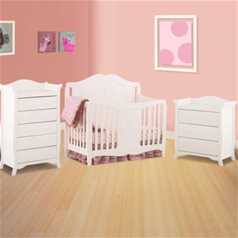 Storkcraft Princess Crib by Storkcraft 3 Nursery Set Princess 4 In 1 Fixed