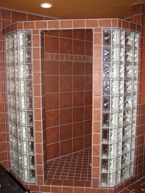 glass block tiles bathroom glass block shower tile showers pinterest