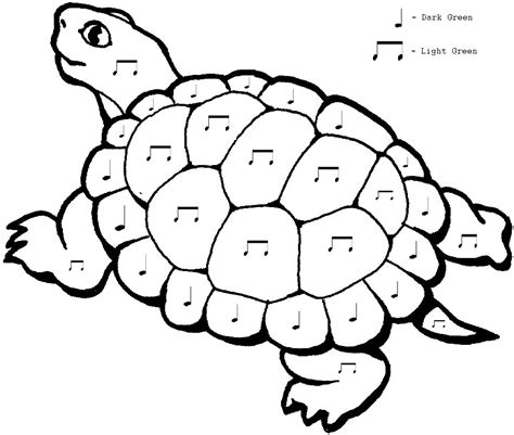 Free Printable Turtle Coloring Sheet Way To