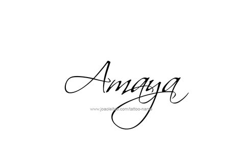 amaya name tattoo designs