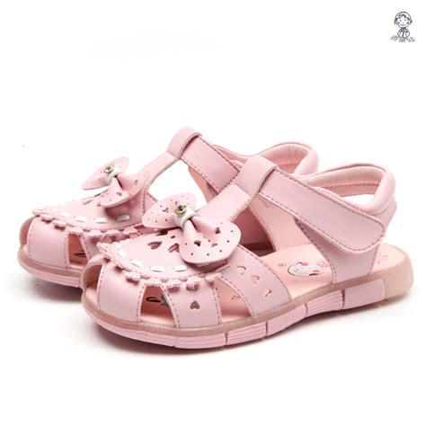 comfortable sandals for kids 2016 new comfortable pink white summer kids flat leather