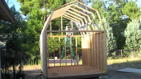 building a gambrel roof how to build a gambrel roof the sequence of work