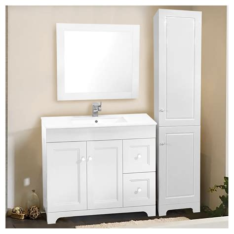 sink vanity with linen cabinet vanity sink with mirror and linen cabinet 37 quot 3 pieces