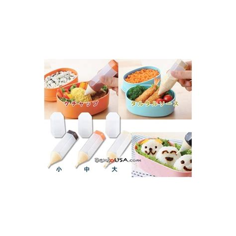 Drawing Pen For Food Isi 3 Bento bento essential deluxe sauce drawing pen 3 sizes for bento accesso