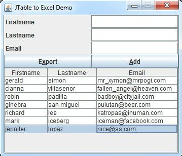 Java Swing Exles by Importing Excel Xls In Java Swing Application Stack