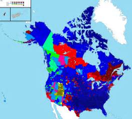 map of dominant religions of the us canada by county