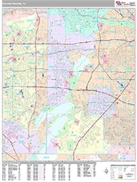 zip code map grand prairie tx grand prairie texas zip code wall map premium style by