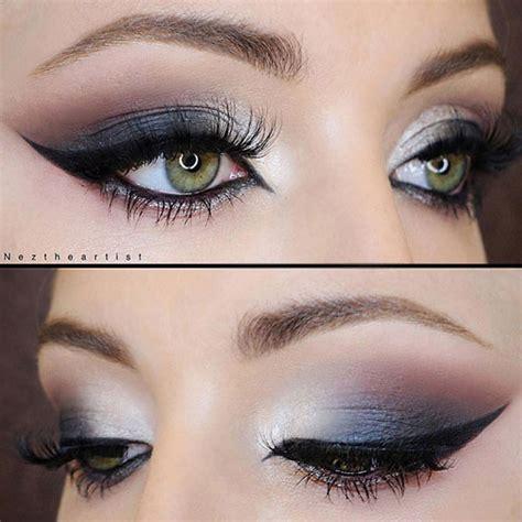 eyeshadow tutorial black and white black and white smokey eye makeup tutorial mugeek vidalondon