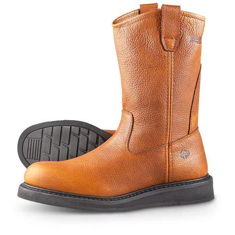 wolverine durashock boots s wolverine 174 durashocks 174 10 quot wellington work boots