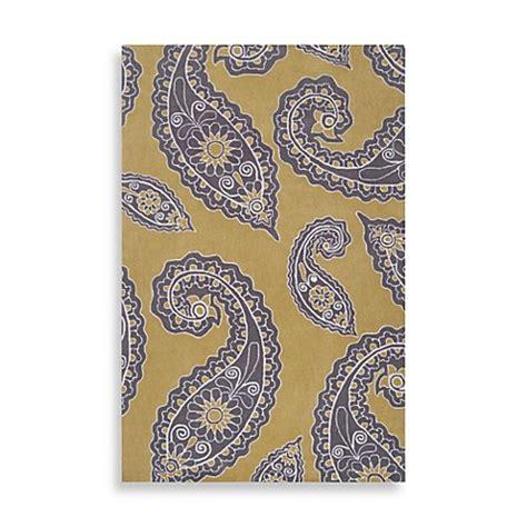 grey paisley rug angelo home hudson park paisley rug in yellow grey bedbathandbeyond