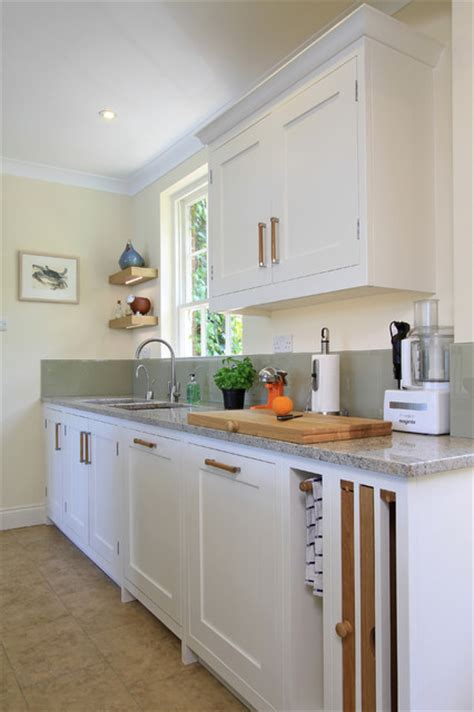 in frame shaker kitchen in green blue wimborne white