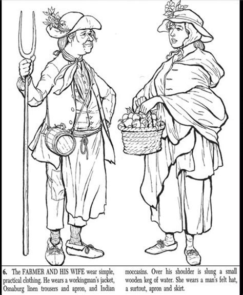 colonial man coloring coloring pages