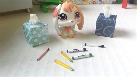 How To Make Lps Stuff Out Of Paper - how to make school supplies tissue box pens pencils