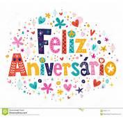 Cart&227o De Feliz Aniversario Portuguese Happy Birthday Ilustra&231&227o Do
