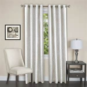 White Darkening Curtains Lorraine Set Of 2 Room Darkening Energy Efficient Blackout