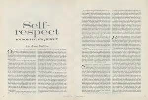 Joan Didions Essay On Going Home by On Self Respect Joan Didion S 1961 Essay From The Pages