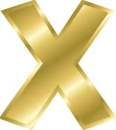 letter x capital letter alphabet abc gold