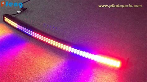 led light bar color changing 50 inch curved multi color change light bar