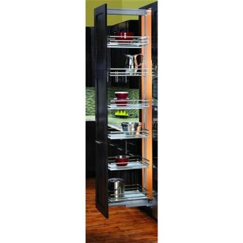 pull out pantry shelves home depot rev a shelf premiere 14 3 4 in width short pull out glass