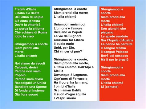 inno nazionale italiano testo presto avremo forse un inno definitivo quello di