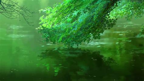 wallpaper engine anime green leaves animated wallpaper