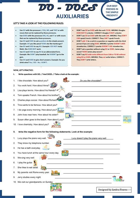 preguntas con it does auxiliaries do does worksheet free esl printable