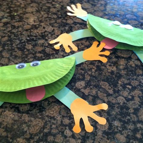 frog craft paper plate pin by the mailbox on arts and crafts