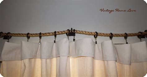 curtain and rod vintage home love rope curtain rod and diy curtains