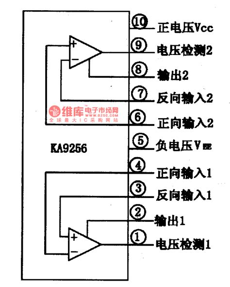 circuit diagram of integrated circuit ka9256 two way power drive integrated circuit diagram control circuit circuit diagram