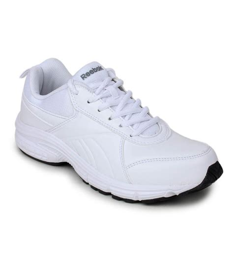 reebok white synthetic leather sports shoes price in india