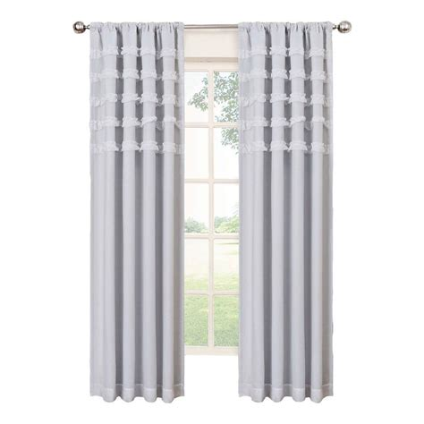 eclipse blackout curtains white eclipse ruffle batiste blackout white polyester rod pocket