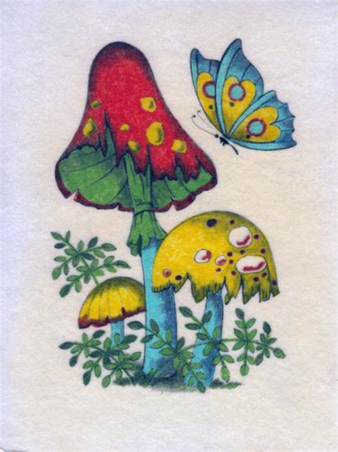 hippie drawing vintage hippie psychedelic felt drawing nature drawings