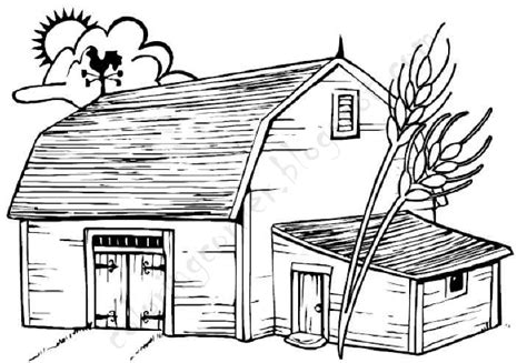 Barn Coloring Pages Barn Coloring Pages Free