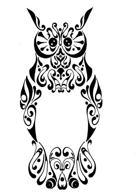 tribal tattoos vetor 1000 ideas about tribal owl tattoos on owl