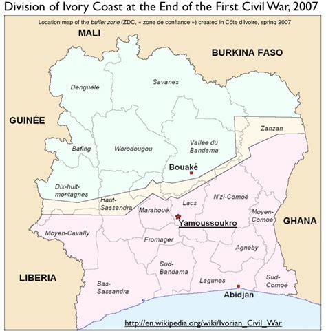 ivory coast on the map elfenbeink 252 ste konfliktkarte