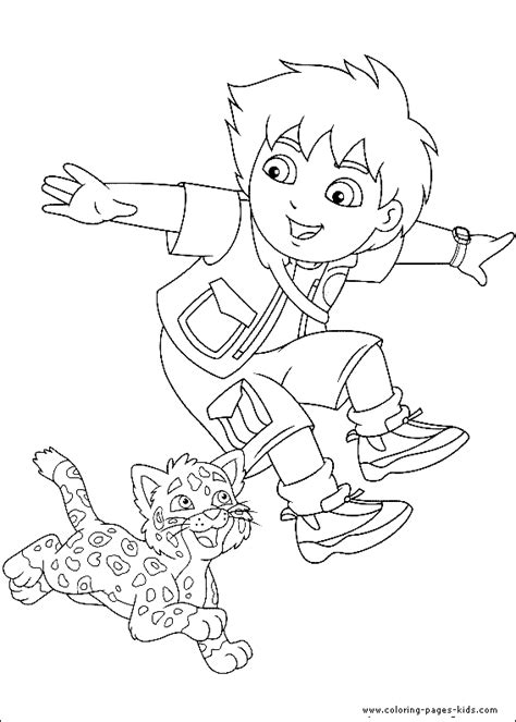 coloring pages baby jaguar go diego go and baby jaguar coloring page go diego go