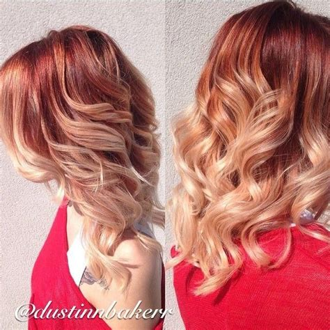hairstyles blonde and red dramatic balayage 2015 hairstyle ideas hair