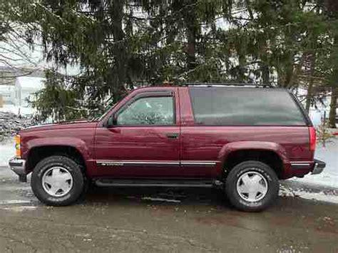 sell used 1998 chevrolet tahoe lt 4x4 2 door heated seats