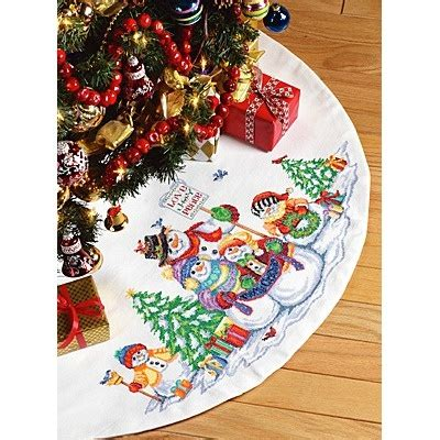 christmas tree skirt cross stitch cross stitch fun