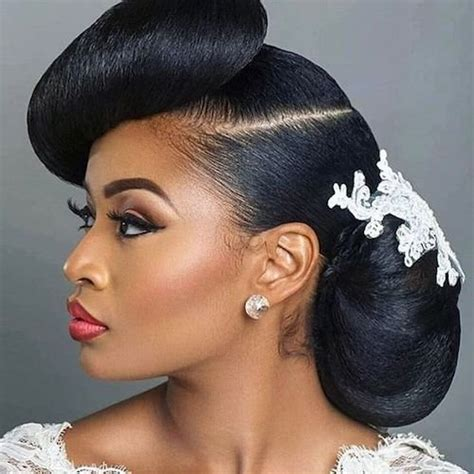 wedding bob hairstyles for black women fine hair layered pinterest 41 wedding hairstyles for black women to drool over 2018