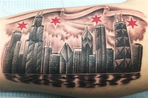 chicago skyline tattoo designs 17 distinct chicago skyline tattoos with meanings