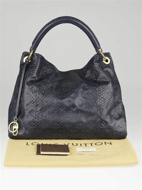 Limited Edition Python Heloise Bag by Louis Vuitton Limited Edition Navy Blue Python Artsy Mm