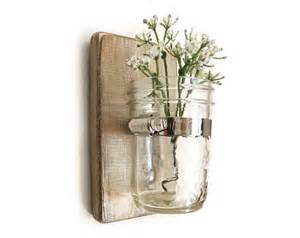 wall vase decor wall sconce wood vase jar metallic taupe by oldnewagain
