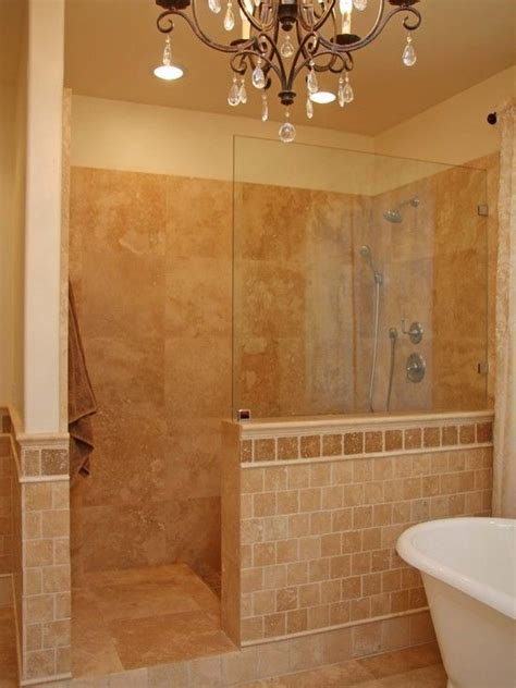 how to take a bath without a bathtub 1000 ideas about half wall shower on pinterest half
