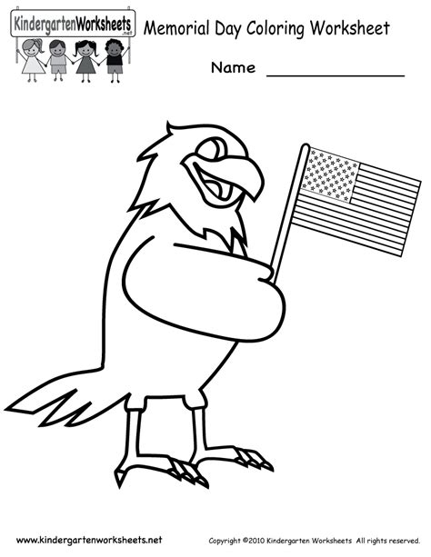 preschool coloring pages for memorial day free printable memorial day coloring worksheet for