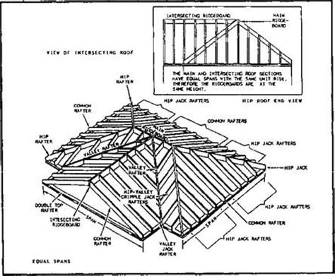 roof pattern drawing intersecting gable roof cottage pinterest carpentry