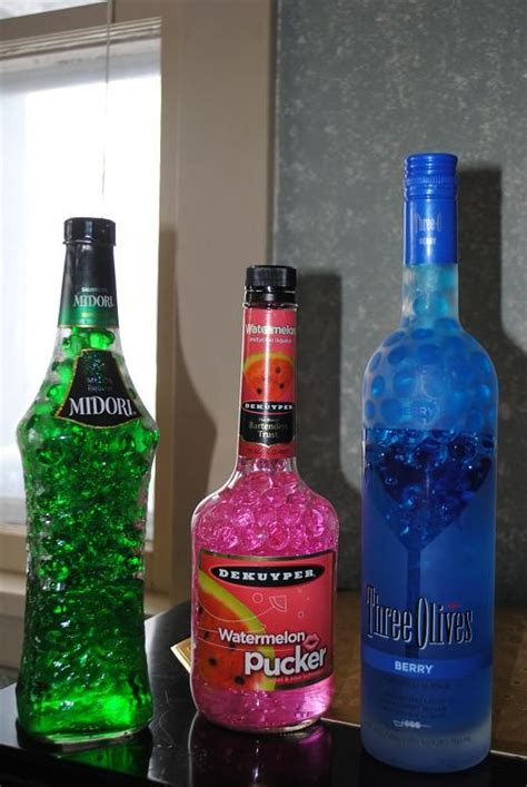 How To Decorate Empty Liquor Bottles by Fill Empty Bottles With Bright Colored Water Projects